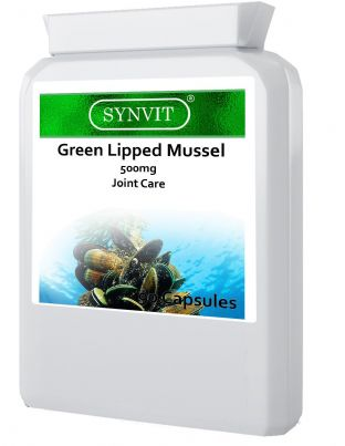 Green Lipped Mussel 500mg 90 Capsules Joint Health Humans and Dogs SYNVIT®